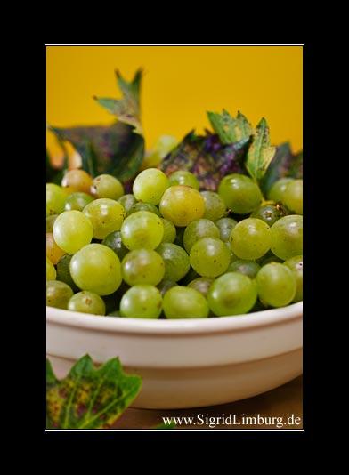 Fotografie Weintrauben in einer alten Schüssel