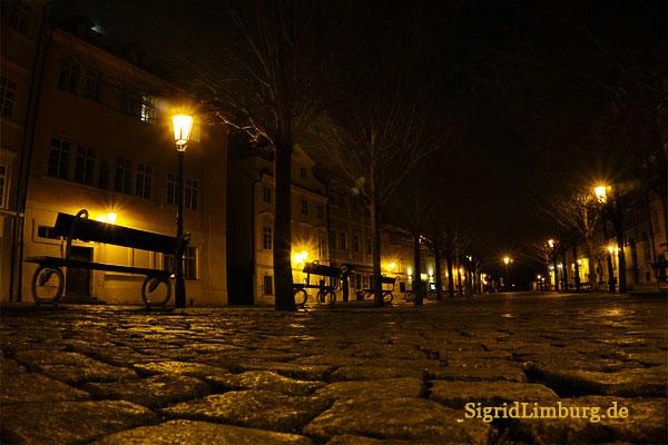 Fotografie Prager Platz bei Nacht © Sigrid Limburg